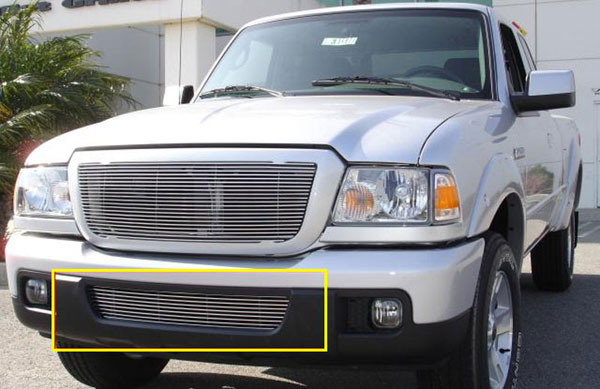 T-Rex 25661:  Ford Ranger XLT / FX4 2006 - 2007 Bumper Grille Insert (9 Bars) (07 Models - require drilling into bumper support)