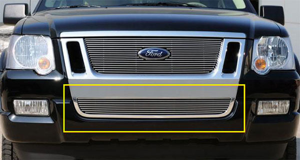 T-Rex 25662 |  Ford Explorer Sport Trac 2006 - 2010 Bumper Billet Grille Insert