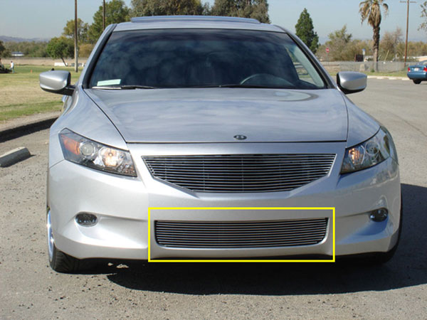 T-Rex 25728:  Honda Accord (4 Door Sedan Only) 2008 - 2010 Bumper Billet Grille Insert (Except V6)