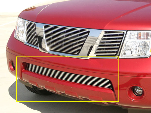 T-Rex 25760 |  Nissan Frontier 2005 - 2010 Bumper Billet Grille - Fits All w/ Grey / Painted Bumpers (9 Bars) - Will not fir models with chrome bumper