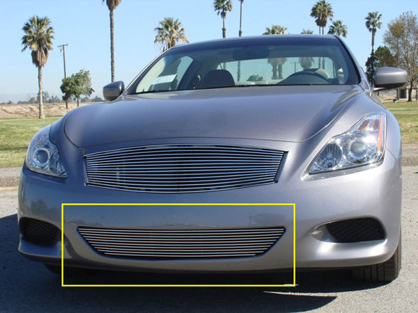 T-Rex (25810)  Infiniti G-37 (2 Dr Coupe) 2008 - 2012 Bumper Billet Grille Insert - 1 PC (will not fit IPL trim package)