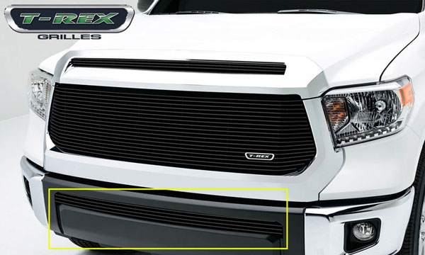 T-Rex 25964B:  Toyota Tundra 2014 - Billet Grille, Bumper, Overlay, 1 Pc, Black Powdercoated Aluminum Bars