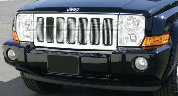 T-Rex 30485    Jeep Commander - VERTICAL Billet Grille Insert; 2006-2010