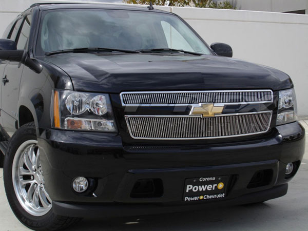 T-Rex 31051 |  Chevrolet Tahoe, Suburban, Avalanche - VERTICAL Billet Grille Overlay/Bolt On - 2 Pc; 2007-2013