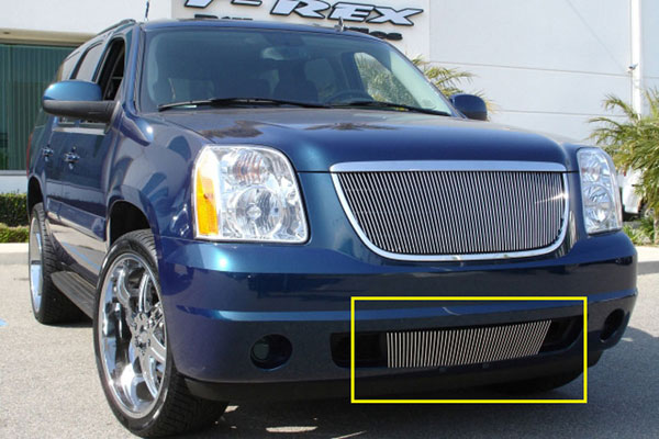 T-Rex 35171:  GMC Yukon 2007 - 2013 VERTICAL Bumper Insert (VERTICAL Between Tow Hooks) (51 Bars)