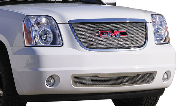 T-Rex 44172:  GMC Yukon 2007 - 2013 Sport Series Formed Mesh Grille - Stainless Steel - Triple Chrome Plated - w/ Logo Opening