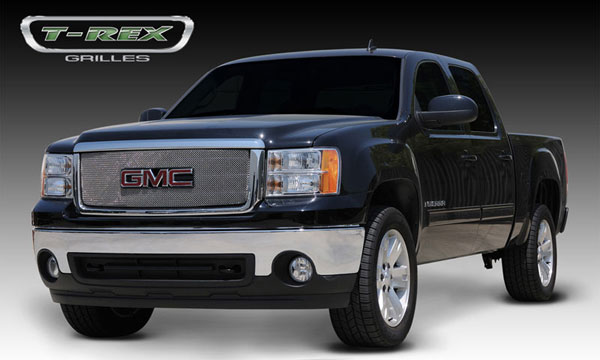 T-Rex 44204 |  GMC  Sierra 3500 1500 - Sport Series Formed Mesh Grille - Stainless Steel - Triple Chrome Plated - w/ Logo Opening; 2007-2012