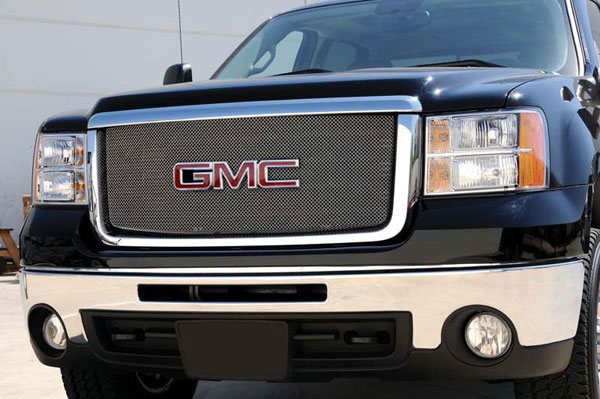 T-Rex 44207:  GMC Sierra 2500HD, 3501 2007 - 2010 Sport Series Formed Mesh Grille - Stainless Steel - Triple Chrome Plated - w/ Logo Opening