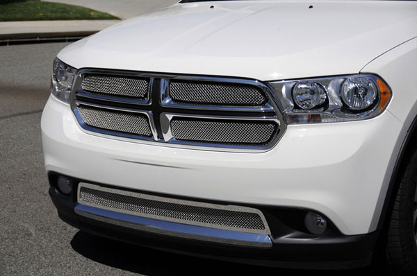 T-Rex 44491:  Dodge Durango 2011 - 2013 Sport Series Formed Mesh Grille - Stainless Steel - Triple Chrome Plated - 4 Pc