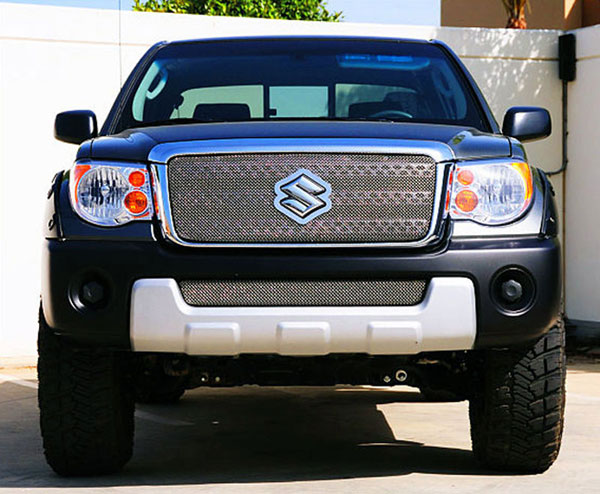 T-Rex 44980:  Suzuki Equator 2009 - 2010 Sport Series Formed Mesh Grille - Stainless Steel - Triple Chrome Plated