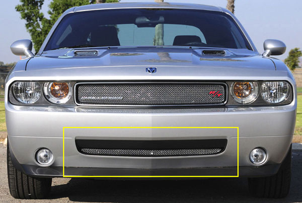 T-Rex 45415 |  Dodge Challenger (ALL) - Sport Series Formed Mesh Bumper - Triple Chrome Plated; 2009-2010