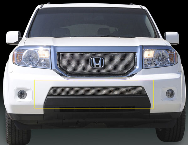 T-Rex 45705:  Honda Pilot 2009 - 2010 Sport Series Formed Mesh Bumper - Triple Chrome Plated
