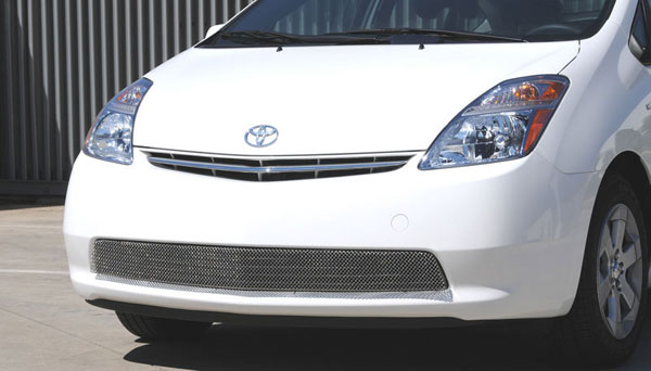 T-Rex 45927:  Toyota Prius w/o Fog Light 2004 - 2009 Sport Series Formed Mesh Grille - Stainless Steel - Triple Chrome Plated