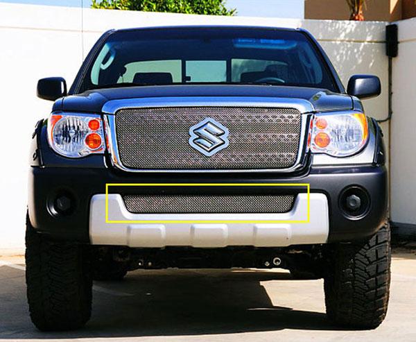 T-Rex 45980 |  Suzuki Equator 2009 - 2010 Sport Series Formed Mesh Bumper - Triple Chrome Plated