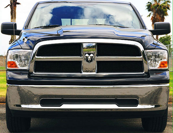 T-Rex 46456 |  Dodge Ram 1500 Pick Up - Sport Series Formed Mesh Grille - ALL Black Powdercoat - 4 Pc; 2009-2012
