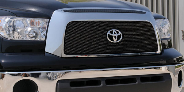 T-Rex 46960:  Toyota Tundra 2007 - 2009 Sport Series Formed Mesh Grille - ALL Black Powdercoat - w/ Logo Opening