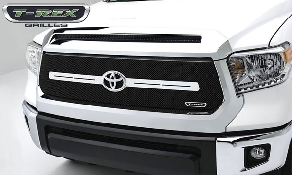 T-Rex 46964:  Toyota Tundra 2014 - Sport Series, Formed Mesh, Main Grille With Logo Bar, Replacement, 1 Pc, Black Powdercoated Mild Steel