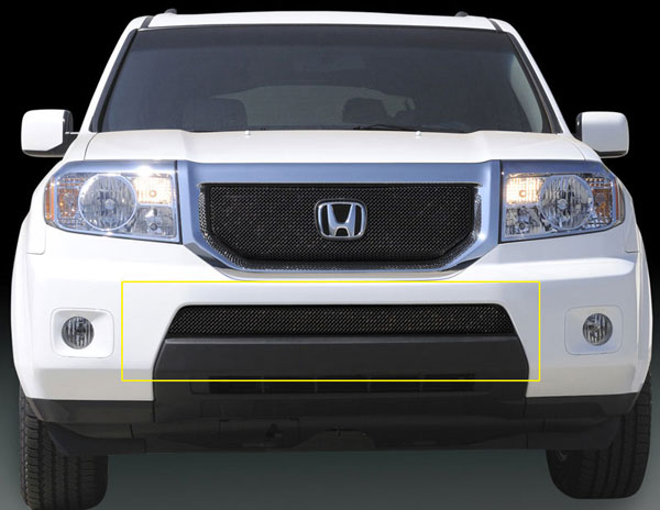 T-Rex (47705)  Honda Pilot 2009 - 2010 Sport Series Formed Mesh Bumper - Black Powdercoat