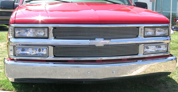 T-Rex 50059 |  Chevrolet Pick Up 94-99 Suburban/Tahoe 1994 - 1998 Grille Assembly - Paintable - Billet & Bowtie Installed