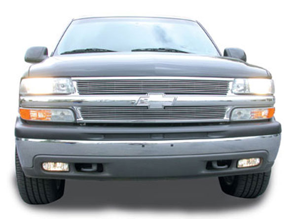 T-Rex 50075:  Chevrolet Suburban/Tahoe, 99-02 Silverado 1999 - 2006 Grille Assembly - All Chrome - w/Billet & Bowtie Installed