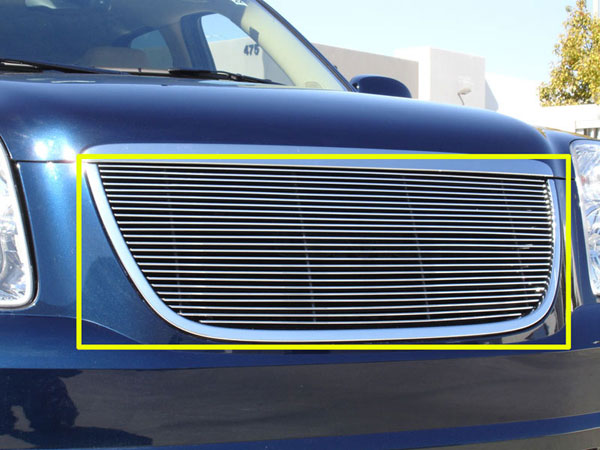 T-Rex 50171:  GMC Yukon 2007 - 2013 Grille Assembly - Aftermarket Chrome Shell - w/ Billet (21171) Installed