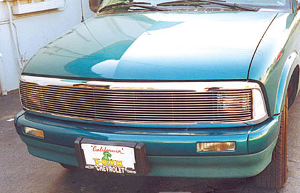 T-Rex 50250:  Chevrolet S10, 95-97 Blazer 1994 - 1997 Grille Assembly - Chrome - S. Beam - w/Phantom Installed - No H/Lamp Recess needed