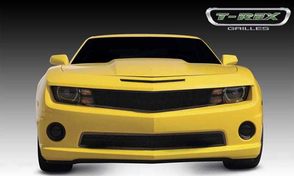 T-Rex (51029)  Chevrolet Camaro (ALL) 2010 - 2013 Upper Class Mesh Grille - All Black - w/ Formed Mesh - 1 Pc Custom Design Full Opening - Covers Signals