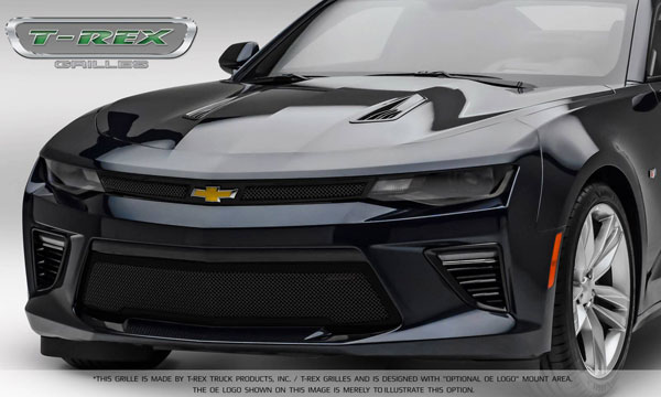 T-Rex 51035: Camaro 2016 SS Main Grille Overlay with Black Powder coat Finish - Upper Class