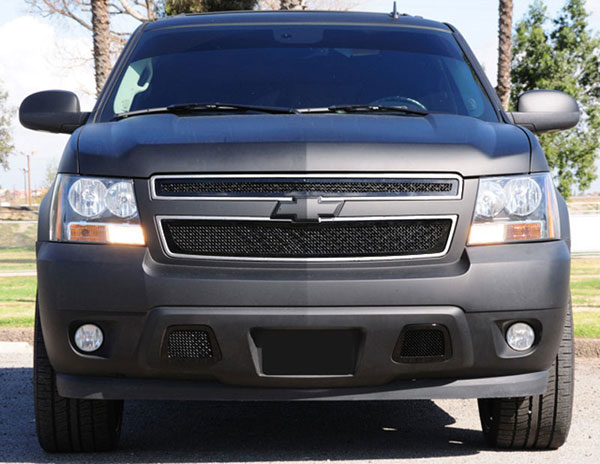 T-Rex 51050:  Chevrolet Tahoe, Suburban 2007 - 2013 Upper Class Mesh Grille - All Black - 2 Pc Style