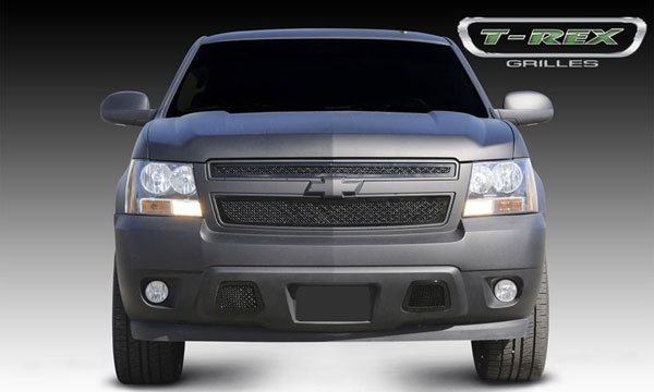 T-Rex (51051)  Chevrolet Tahoe, Suburban, Avalanche 2007 - 2013 Upper Class Mesh Grille - All Black - 2 Pc Style