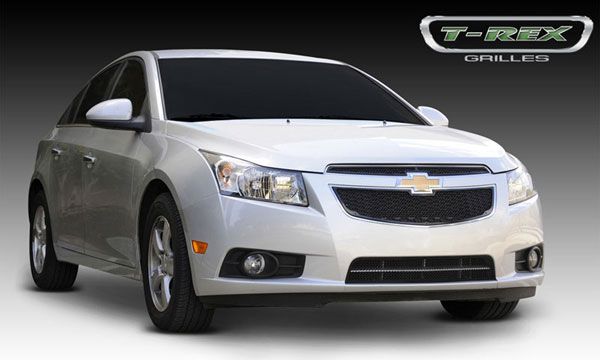 T-Rex 51125:  Chevrolet Cruze 2011 - 2013 Upper Class Mesh Grille - 2 Pc - All Black
