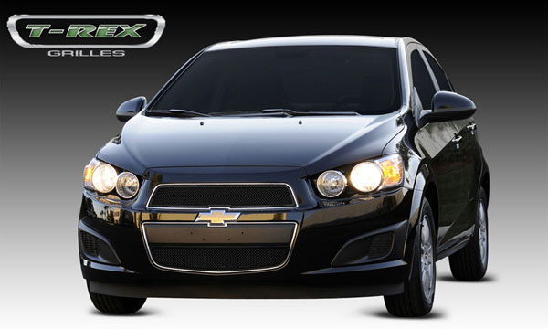 T-Rex 51132 |  Chevrolet Sonic - Upper Class Mesh Grille - 2 Pc - All Black; 2012-2013