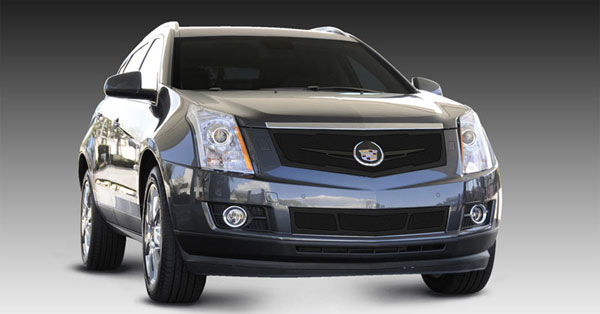 T-Rex 51186 |  Cadillac SRX 2010 - 2013 Upper Class Mesh Grille, Replacement, Full Opening, w/ Winged OE Logo Plate, Black