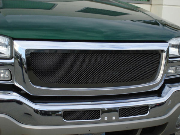 T-Rex (51200)  GMC Sierra (All Models except C3) 2003 - 2006 Upper Class Mesh Grille - All Black
