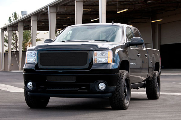 T-Rex 51209 |  GMC Sierra 2500HD, 3500 2011 - 2011 Upper Class Polished Stainless Mesh Grille - All Black