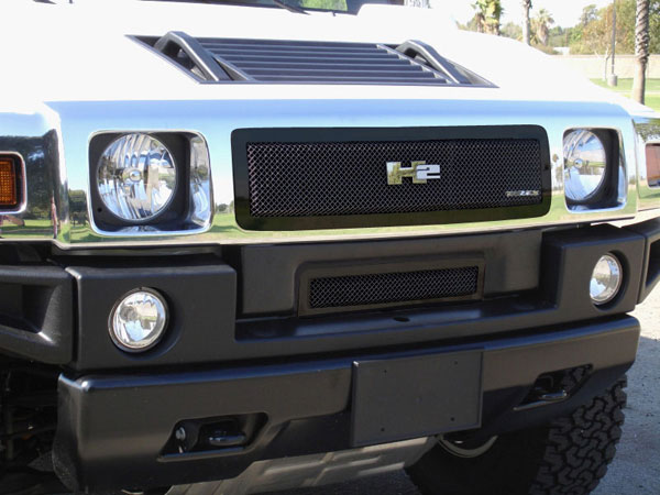 T-Rex 51295:  Hummer H2 2008 - 2009 Upper Class Mesh Grille - All Black