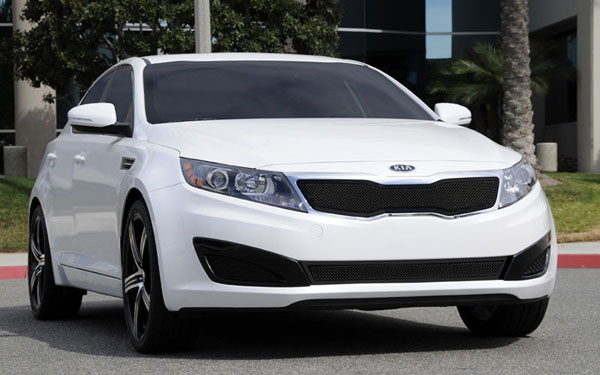 T-Rex 51320:  Kia Optima 2011 - 2011 Upper Class Mesh Grille - All Black - With Formed Mesh Center (Will not fit SX or vehicles with Sporty Type Grille)
