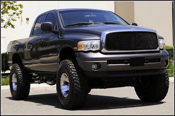 T-Rex 51461 |  Dodge Ram PU - Upper Class Mesh Grille - 1 Pc Full Open (Requires cutting factory cross bars in OE grille) - All Black; 2002-2005