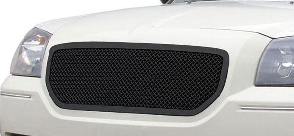 T-Rex 51473:  Dodge Magnum (Except SRT) 2005 - 2007 Upper Class Mesh Grille - Custom Full Opening Style - All Black