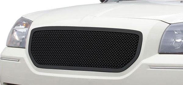 T-Rex 51473 |  Dodge Magnum (Except SRT) - Upper Class Mesh Grille - Custom Full Opening Style - All Black; 2005-2007