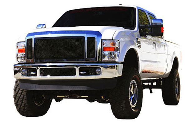 T-Rex 51563 |  Ford Super Duty (All Models) - Upper Class Mesh Grille - All Black - 3 Pc; 2008-2010