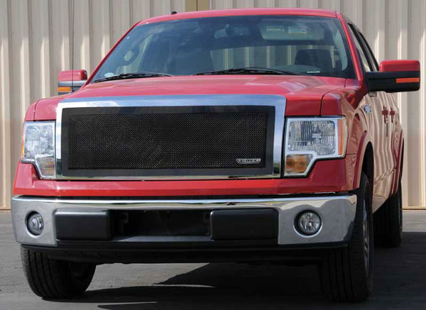 T-Rex (51568)  Ford F-150 2009 - 2012 Upper Class Mesh Grille - 1 Pc Full Opening - With Formed Mesh Center - All Black