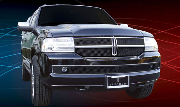 T-Rex 51712:  Lincoln Navigator 2007 - 2010 Upper Class Mesh Grille - All Black - 4 Pc