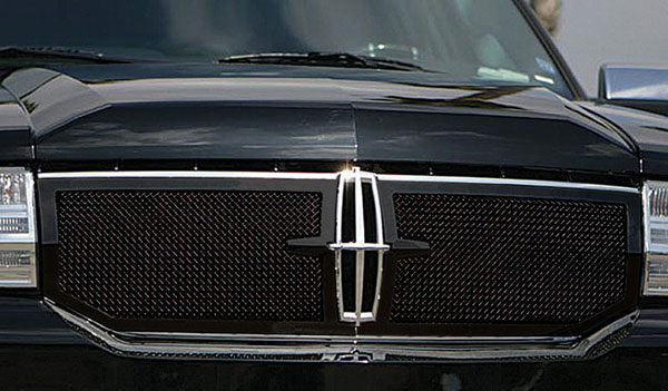 T-Rex 51713:  Lincoln Navigator 2007 - 2010 Upper Class Mesh Grille - All Black - With Formed Mesh - 2 Pc Style (Requires cutting)
