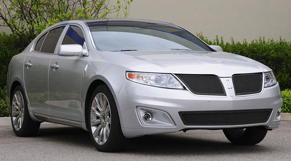 T-Rex 51718:  Lincoln MKS 2009 - 2011 Upper Class Mesh Grille - All Black - With Formed Mesh