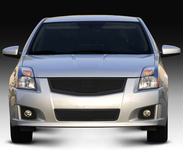 T-Rex (51764)  Nissan Sentra 2.0 SR, SE-R 2008 - 2012 Upper Class Mesh Grille fits vehicles w/ Sport Grille and Sport fascia - All Black