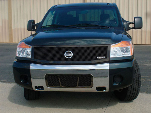 T-Rex (51779)  Nissan Titan (04-07 Armada) 2004 - 2012 Upper Class Mesh Grille - All Black - 1 Pc (Replaces OE Grille)