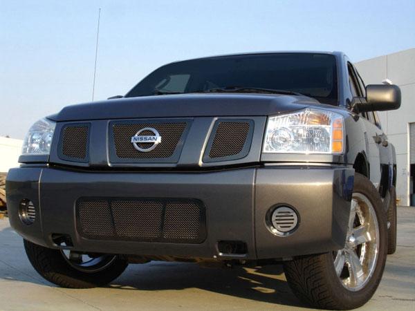T-Rex 51780 |  Nissan Titan (04-07 Armada) 2004 - 2007 Upper Class Mesh Grille - All Black - 3 Pc