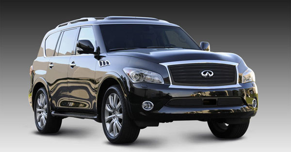 T-Rex 51793:  Infiniti QX56 2011 - 2013 Upper Class Mesh Grille, Overlay, with OE Logo Plate, Black