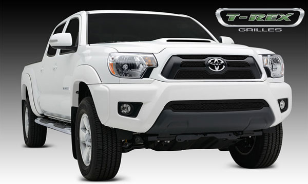 T-Rex 51940:  Toyota Tacoma 2012 - 2013 Upper Class Mesh Grille Overlay/Bolt On - 4 Pc - All Black